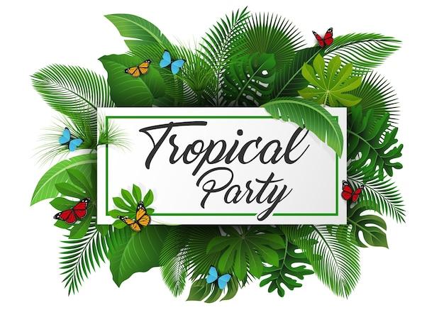 Signe de fête tropicale