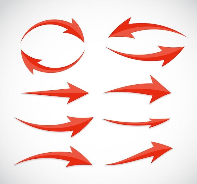 Signe d'icône de flèche. illustration vectorielle.