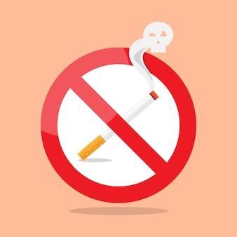 Signe d'interdiction de fumer