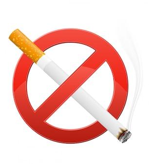 Signe interdisant l'illustration vectorielle de fumer