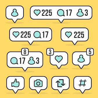 Signe de médias sociaux
