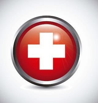 Signe médical avec croix