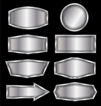 Signe de métal vector isolé sur fond noir