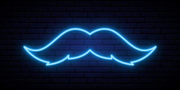 Signe de moustache au néon.