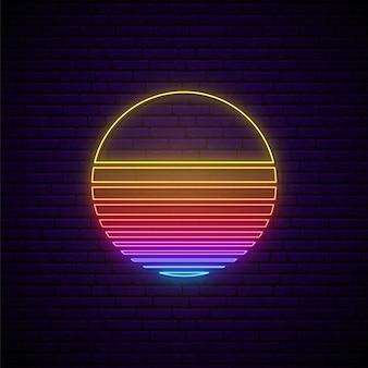 Signe de néon abstrait.
