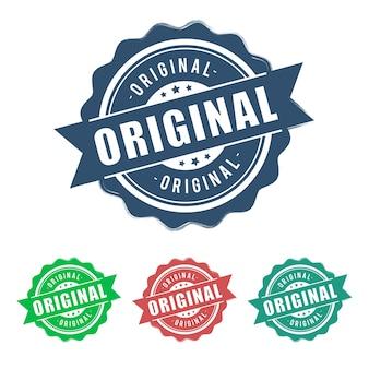Signe original de ruban vintage grunge rond