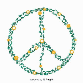Signe de la paix dessiné à la main