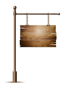 Signe de planche de bois