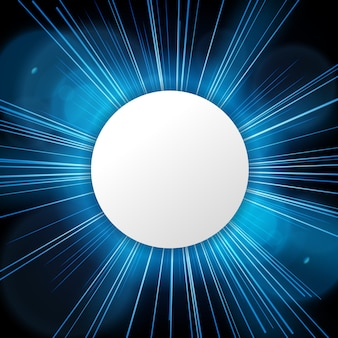 Signe rond avec espace de texte sur la lumière bleue