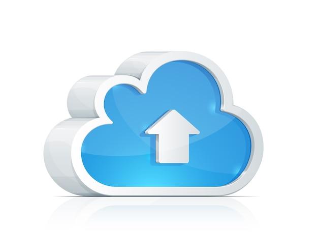 Signe de stockage de données en nuage numérique.