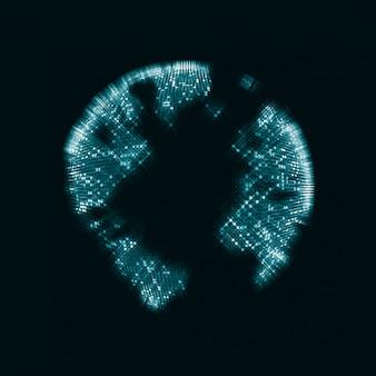 Signe technologique de globe