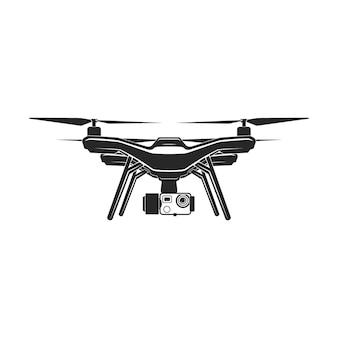 Signe de vecteur de caméra de mouche sans fil quadrocopter drone