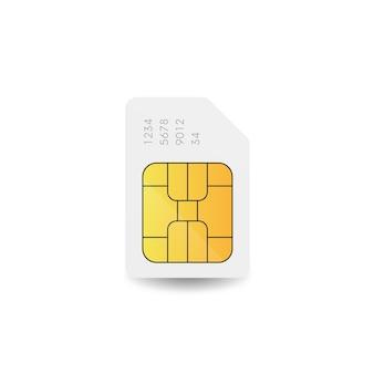 Signe de vecteur de carte sim. icône de puce de téléphone portable.