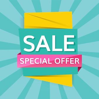 Signe de vente offre spéciale
