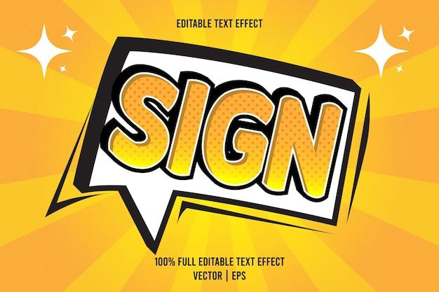 Signer l'effet de texte modifiable
