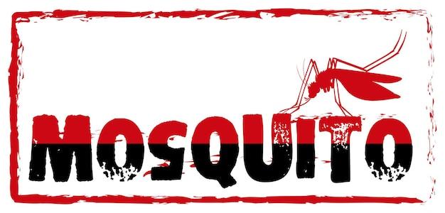 Signer avec le moustique et le libellé