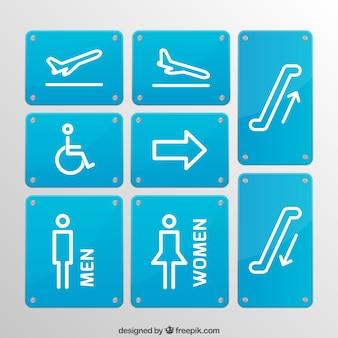 Signes de l'aéroport