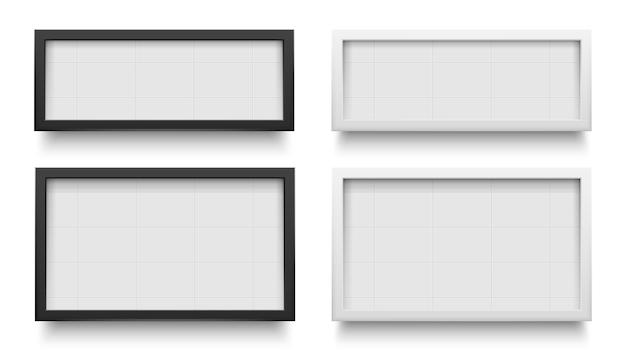 Signes de la boîte lumineuse. modèle de boîte à lumière publicitaire, promotion de bannière isolée pour la publicité. illustration vectorielle