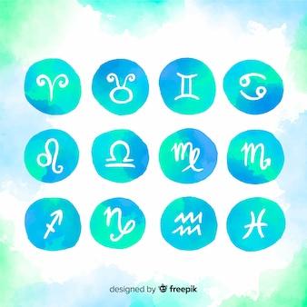 Signes du zodiaque aquarelle