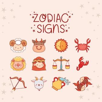 Signes du zodiaque mignons