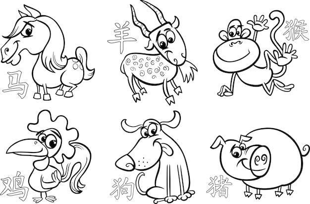Signes de l'horoscope du zodiaque chinois