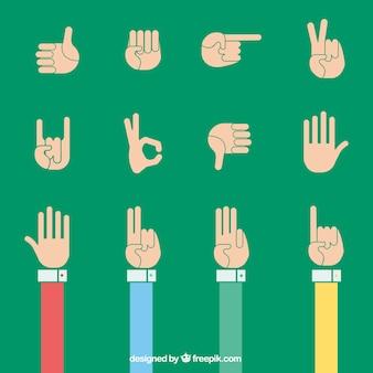 Signes de main