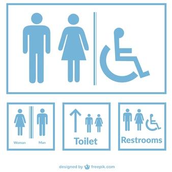 Signes de toilettes vecteur