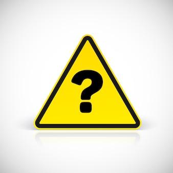 Signes de triangle de question. symbole en signe triangulaire