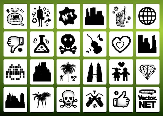 Signes vecteur de symboles