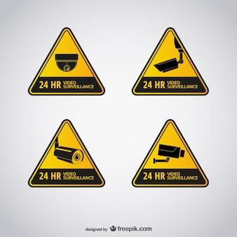 Signes de vidéosurveillance