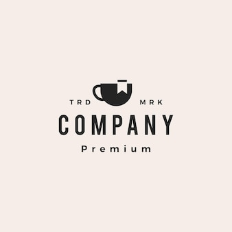 Signet café hipster vintage logo vector icône illustration