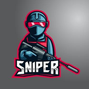 Silent blue sniper logo de e-sport