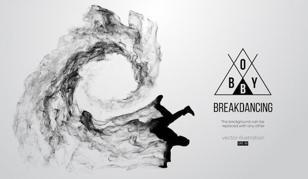 Silhouette abstraite d'un breakdancer