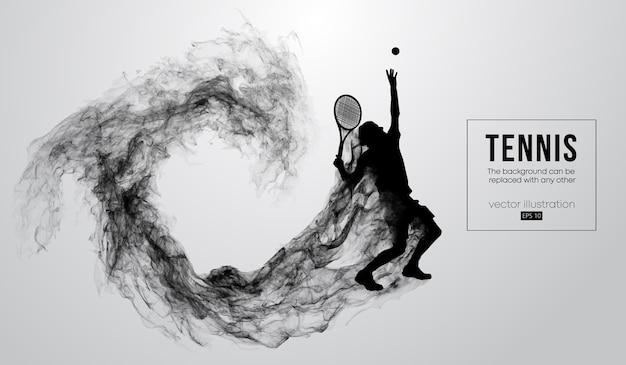 Silhouette abstraite d'une illustration de joueur de tennis homme