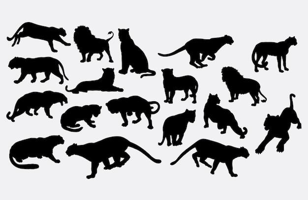 Silhouette d'animal sauvage tigre