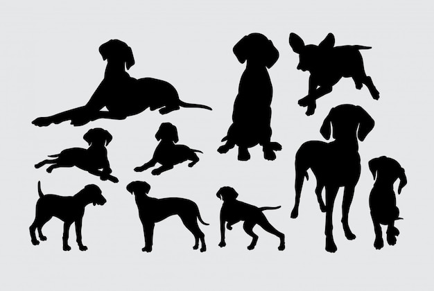 Silhouette d'animaux mammifères