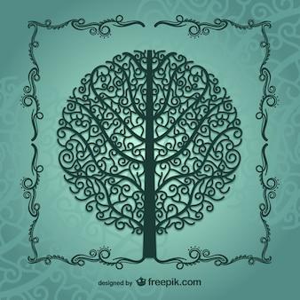 Silhouette d'arbre millésime