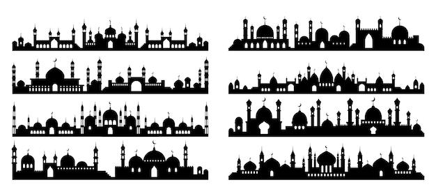 Silhouette d'architecture arabe.