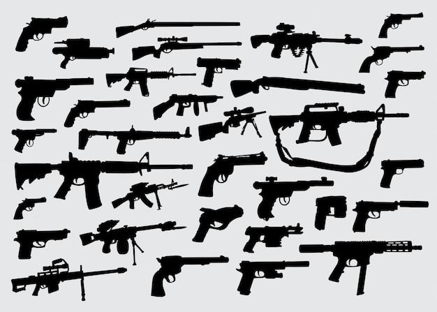 Silhouette d'une arme à feu