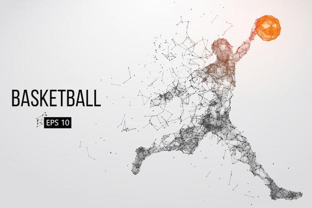Silhouette d'un basketteur. illustration vectorielle