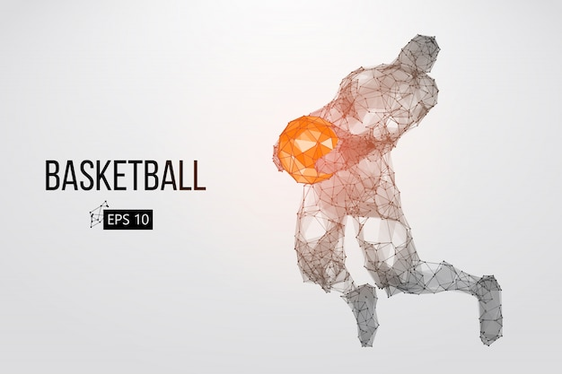 Silhouette d'un basketteur. illustration vectorielle