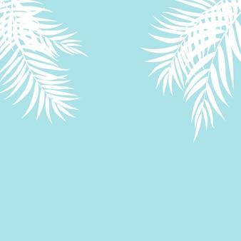 Silhouette belle feuille de palmier
