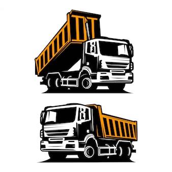 Silhouette de camion à benne basculante