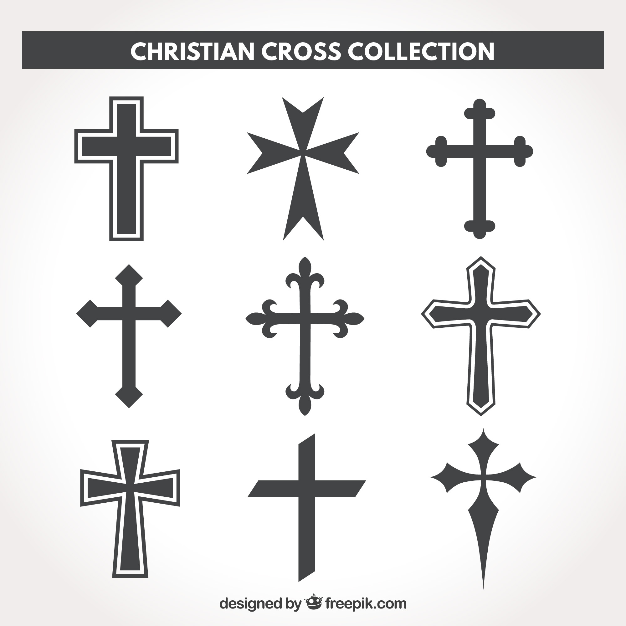 Silhouette chrétienne cross collection