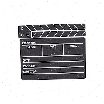Silhouette de clap fermé illustration vectorielle symbole de l'industrie cinématographique