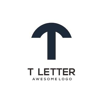 Silhouette de conception de logo abstrait lettre t