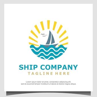 Silhouette de conception de logo de boutre, voilier traditionnel d'asie afrique