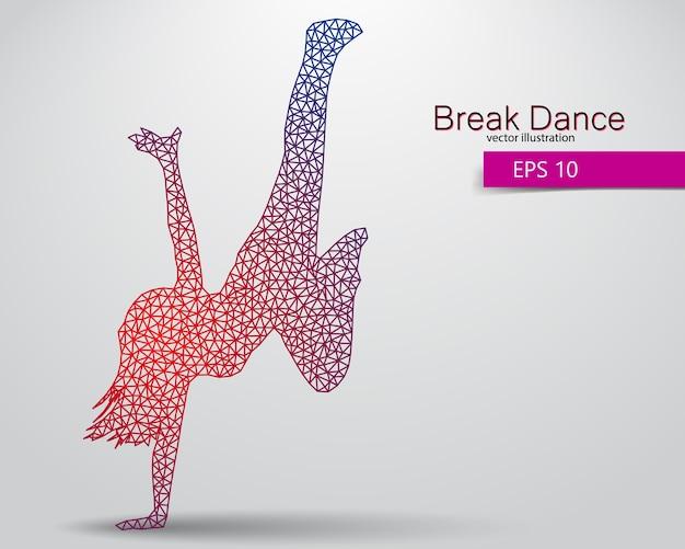 Silhouette d'un danseur de break