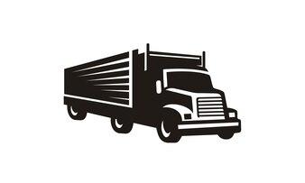 Silhouette de clip art camion