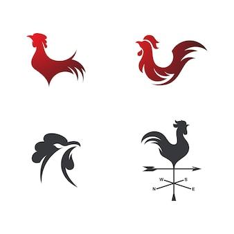 Silhouette du coq vecteur icône illustration design